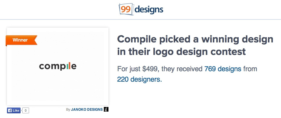 99designs compile logo