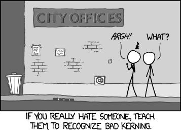 Kerning xkcd #1015